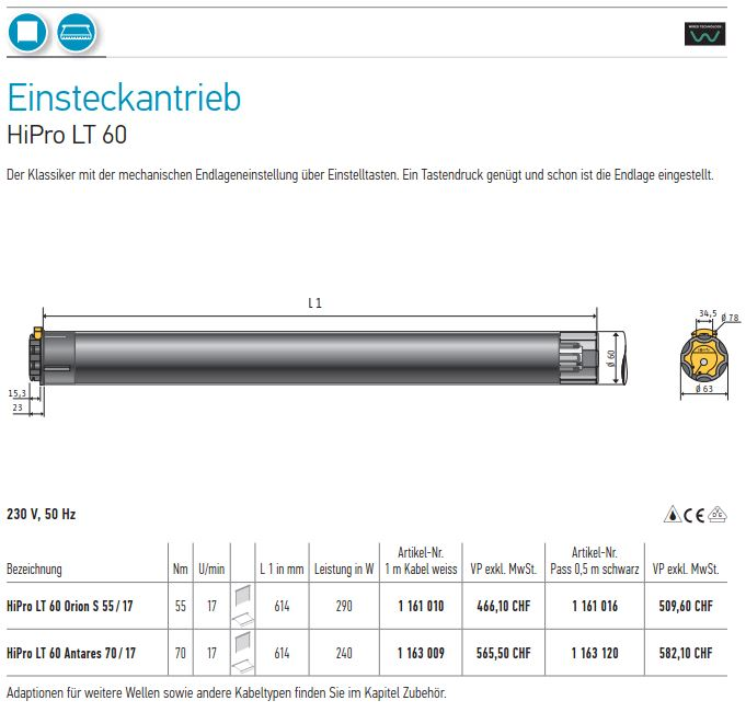 Ersatzteile Storen Online Shop Hipro Lt 60 Orion 55 17