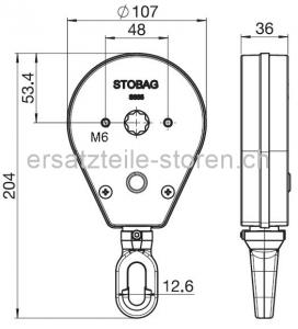 Ersatzteile Storen Kurbelring Kunstoff S806 1